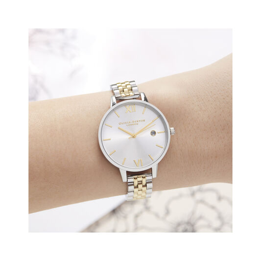 Sunray Silver & Gold Bracelet Watch