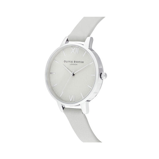 Woven Dial Grey & Silver Watch