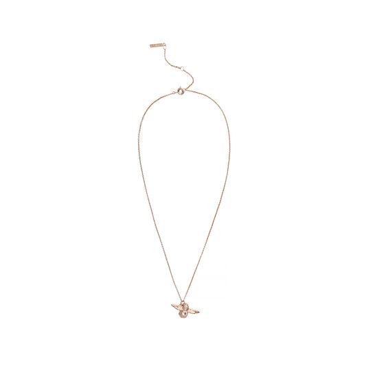 Bejewelled Bee Pendant, Rose Quartz Necklace