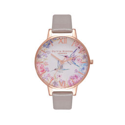 Demi Hummingbirds Grey & Rose Gold Watch