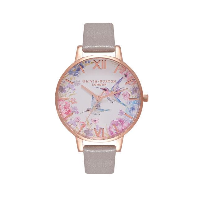 Demi Hummingbirds Grey & Rose Gold Watch