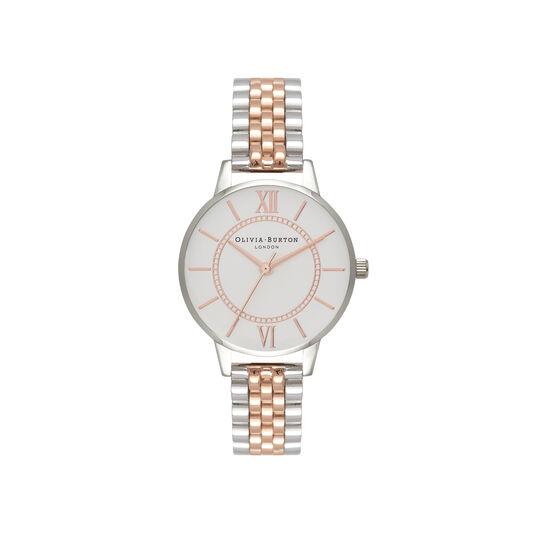 Wonderland Bracelet Silver & Rose Gold Watch