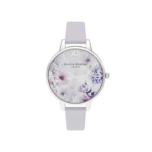 Sunlight Florals Violet & Silver Watch