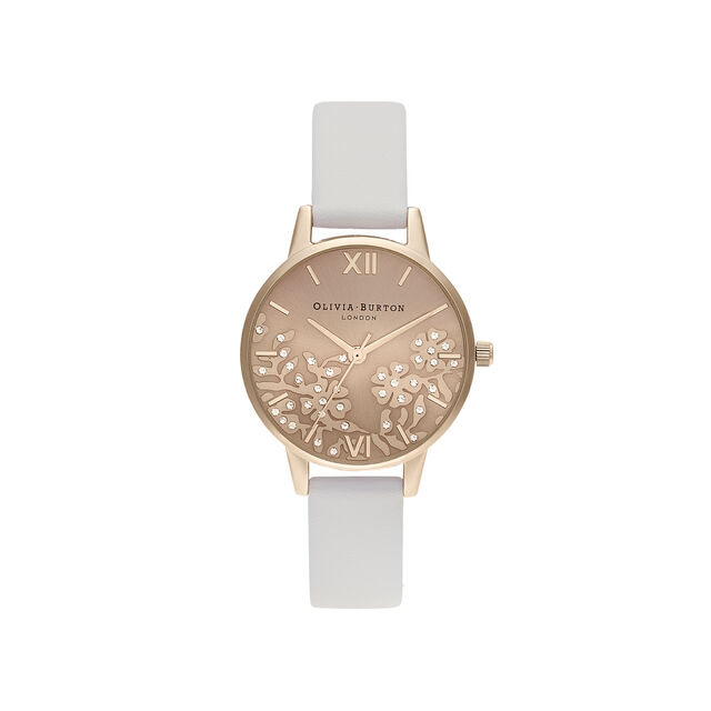 Olivia Burton Bejewelled Lace Women's Watch