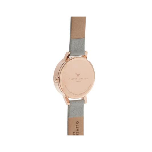 3D Daisy Grey & Rose Gold Watch