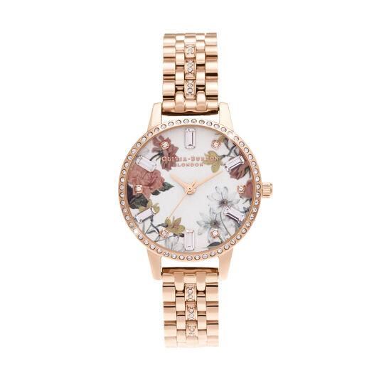 Midi Rose Gold Sparkle Bracelet Watch