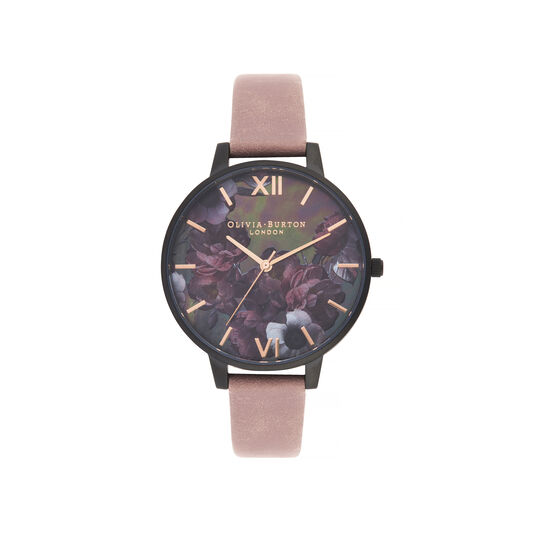 After Dark Big Dial Watch with Black Mother-Of-Pearl