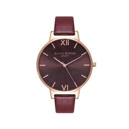 Burgundy & Rose Gold Watch