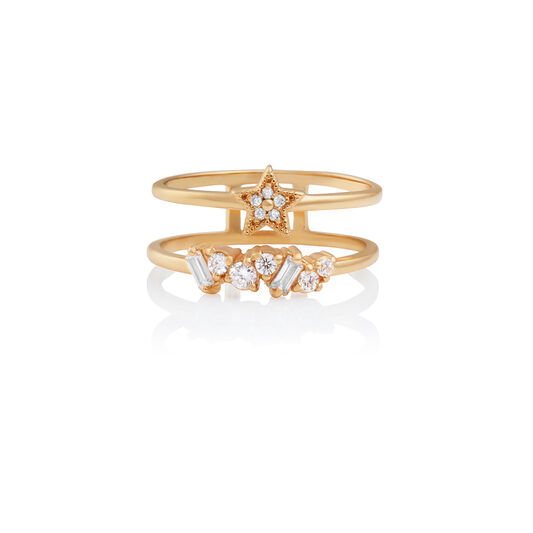 Celestial Double Band Ring Gold S
