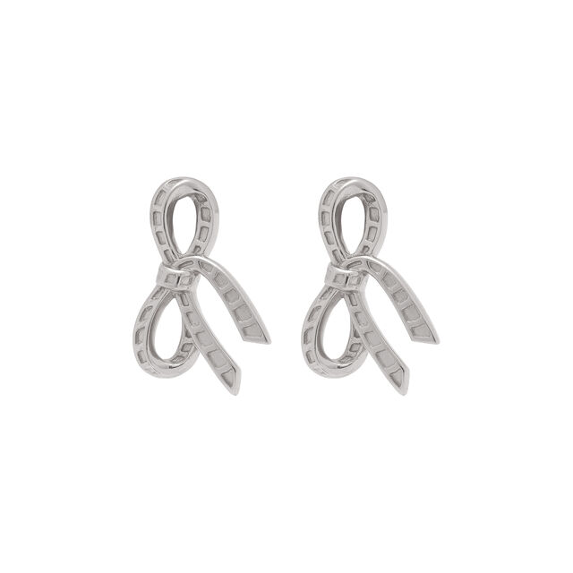 Bow Silver Stud Earrings