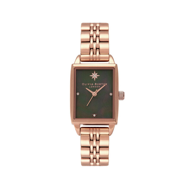Celestial Black Mother Of Pearl Dial & Rose Gold Bracelet Watch