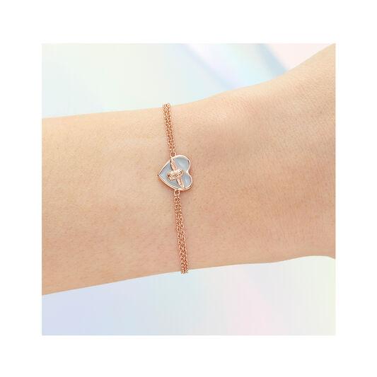 Love Bug Grey & Rose Gold Bracelet