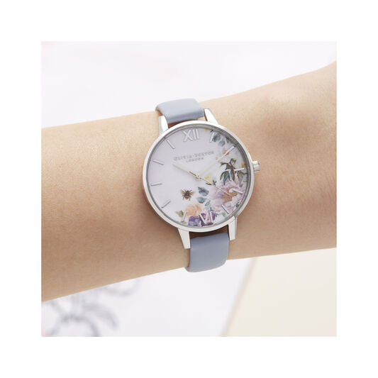 Enchanted Garden Blue & Silver Watch