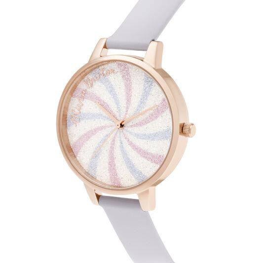 Lollipop Glitter Demi Dial Parma Violet & Rose Gold Watch