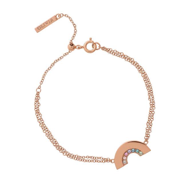 Rainbow Rose Gold Bracelet