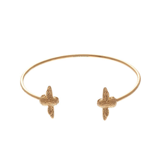 3D Bee Open Gold Bangle