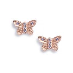Bejewelled Butterfly Earrings Rose Gold & Tanzanite