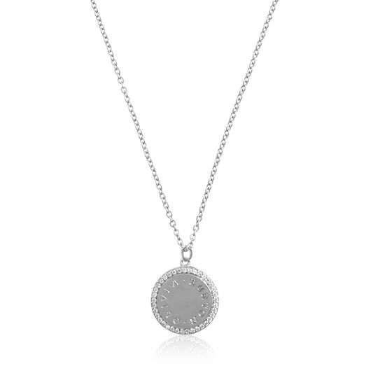 Bejewelled Classics Disc Silver Necklace