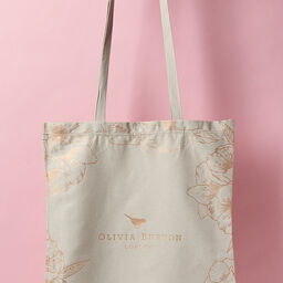 Abstract Florals Cotton Tote