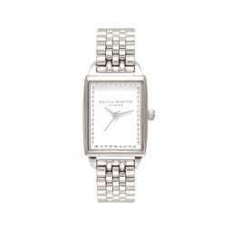 Classic Sparkle Tank Silver Bracelet Watch