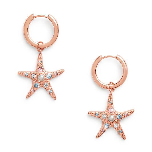 Starfish Rose Gold Huggies