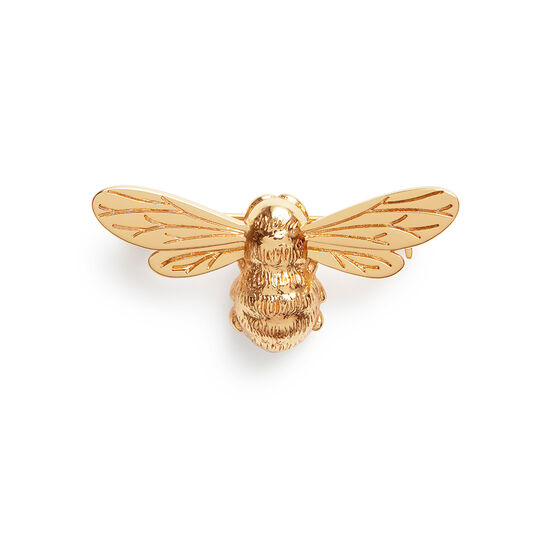 Lucky Bee Gold Brooch