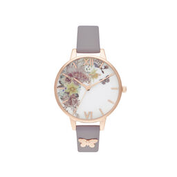 Enchanted Garden Demi Grey Lilac & Rose Gold