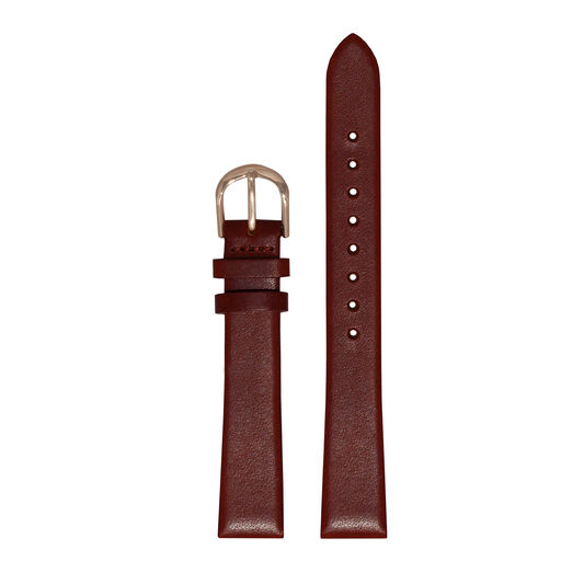 Big Dial Burgundy & Rose Gold Strap