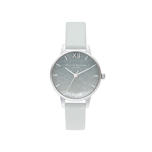 Wishing Wave Glitter Eco Friendly, Grey & Silver Watch
