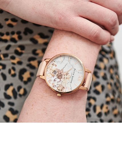Women's Marble Floral Watches