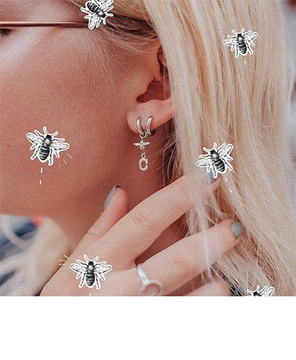 Women's Huggies earrings